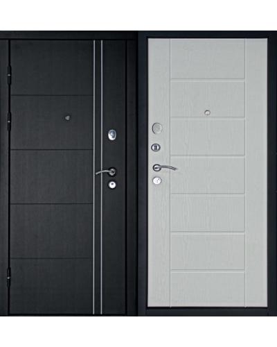 Входная дверь Дверной Континент ТЕПЛОЛЮКС (Беленый Дуб)