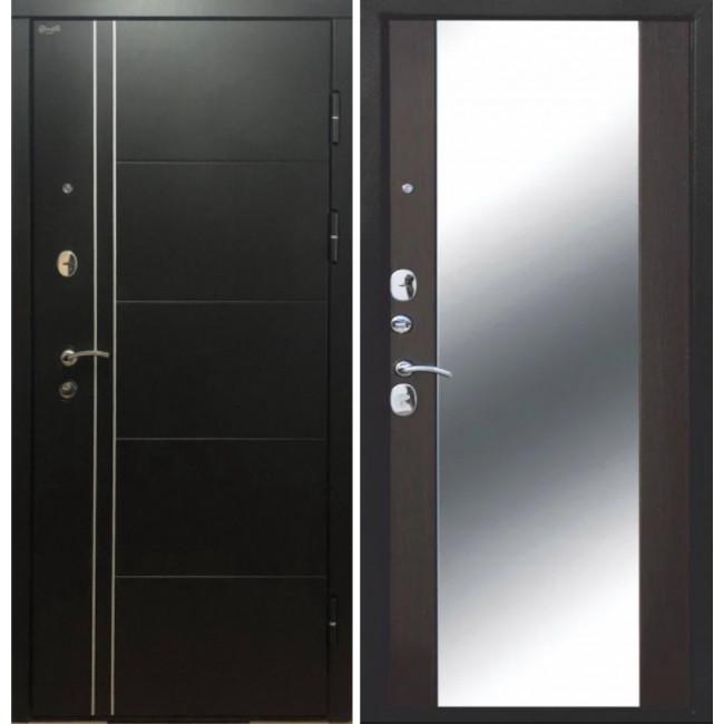 Входная дверь Дверной континент ТЕПЛОЛЮКС зеркало (Венге)