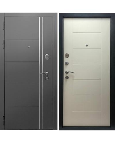Входная дверь Дверной Континент ТЕПЛОЛЮКС (Серая графит/ Беленый Дуб)